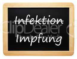 Infektion / Impfung - Konzept Medizin