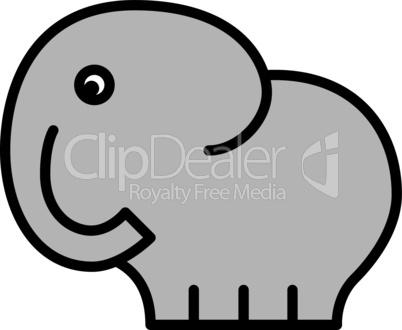 Comic-Elefantenbaby