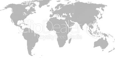 Weltkarte aus Dreiecken