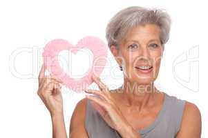 Verliebte Seniorin