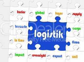 Logistik - Business Konzept - Puzzle Style