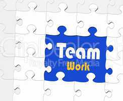 Teamwork - Business Concept - Puzzle Style