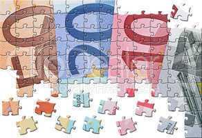 Geldscheine Euro - Puzzle Style