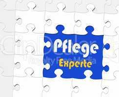 Pflege Experte - Puzzle Konzept
