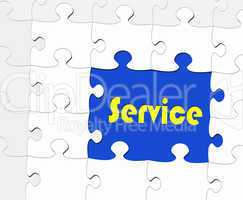 Service - Business Concept - Puzzle Style