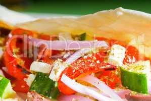 fresh salad wrap