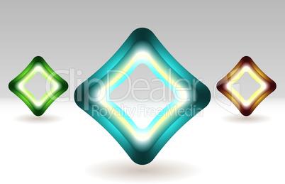 Illuminated square icon
