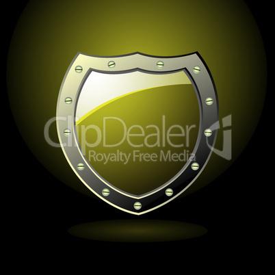 Gold shield blank