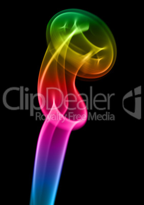 Multi-coloured smoke. Background.