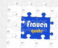 Frauenquote - Puzzle Style
