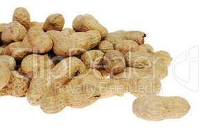 peanuts on the white