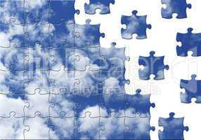 Wolken - Clouds - Puzzle Style