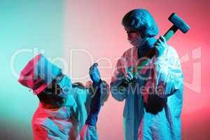 Doctors with a sledgehammer