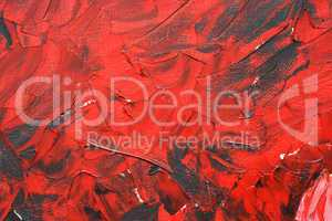 red texture painting with paints