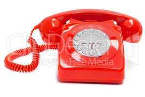 Antique red telephone