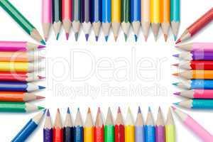Color pencils forming a rectangle
