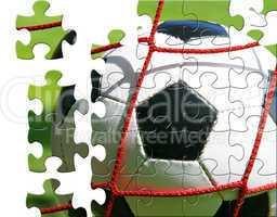 fußball puzzle - fan konzept