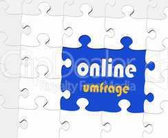 Online Umfrage - Konzept Marktforschung