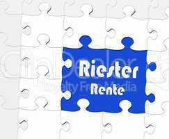 Riester Rente - Konzept Altersvorsorge