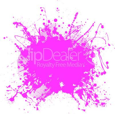 Pink grunge splat