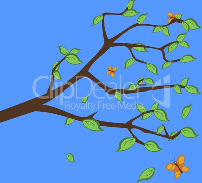 Branch with leafs