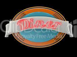 American Diner retro Logo