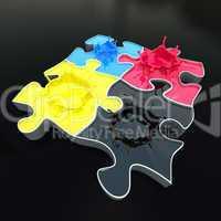 cmyk puzzle 3D