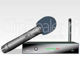 Wireless microphone with the receiver