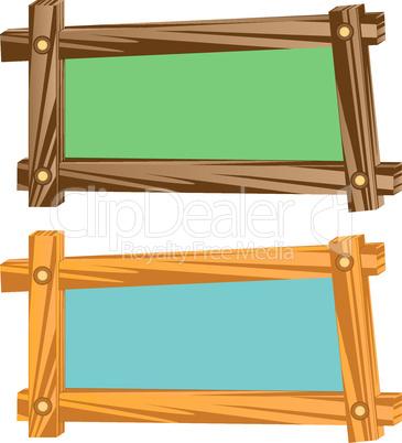 Wooden frameworks.