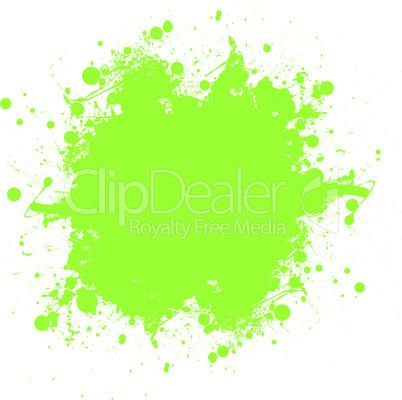 Green ink splatter
