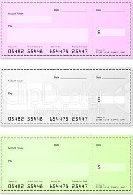 choice of dollar money cheques