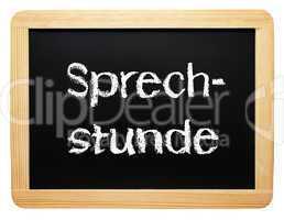 Sprechstunde - Konzept Tafel