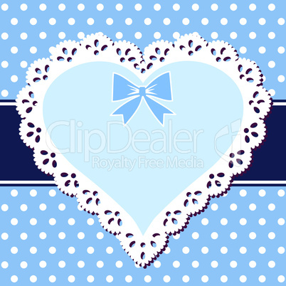 Lace blue heart