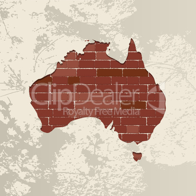 Australia wall map.eps
