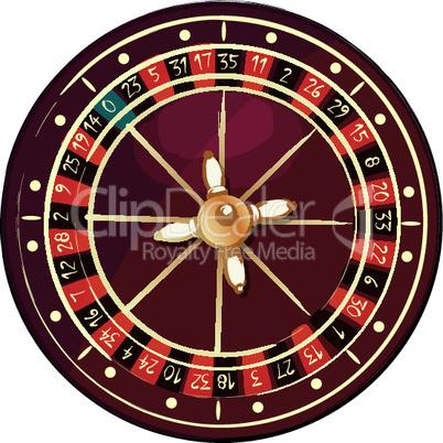 Grunge roulette wheel.