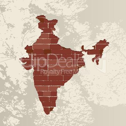 India wall map