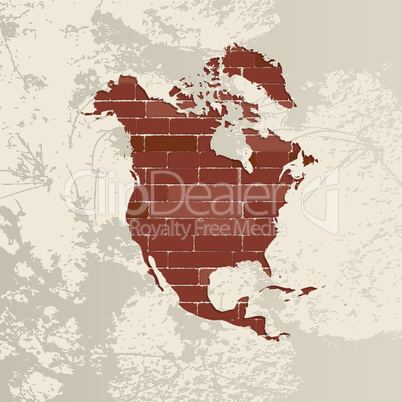 North America wall map.eps