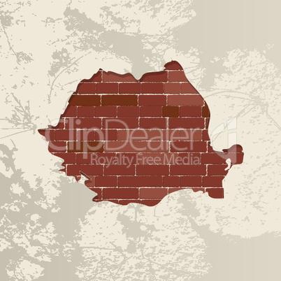 Romania wall map