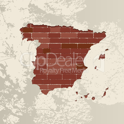 Spain wall map