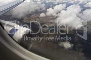 flight over clouds