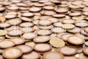 Scattering of coins