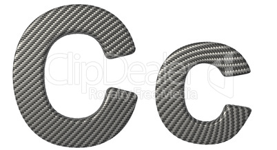 Carbon fiber font C lowercase and capital letters