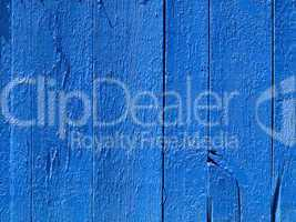 Blue wooden fence.