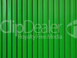 Green corrugated surface.