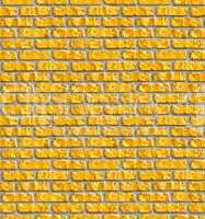 Yellow brickwork seamless pattern.