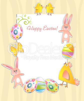 Happy Easter frame.