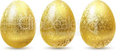 Golden eggs set.