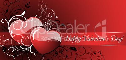 Happy valentines card.