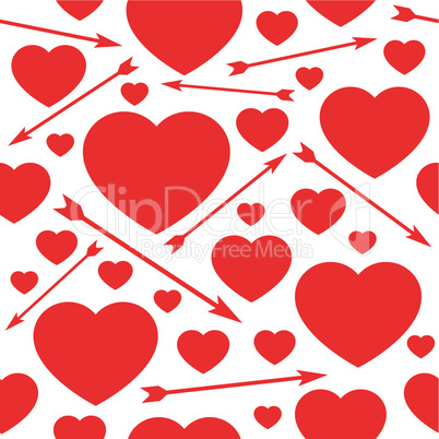 Hearts and arrows seamless background.eps