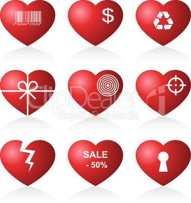 Icon hearts.